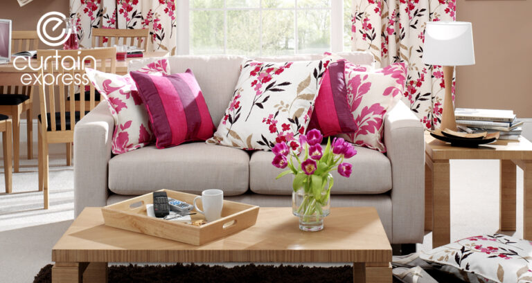 Photo of cushions and sofa