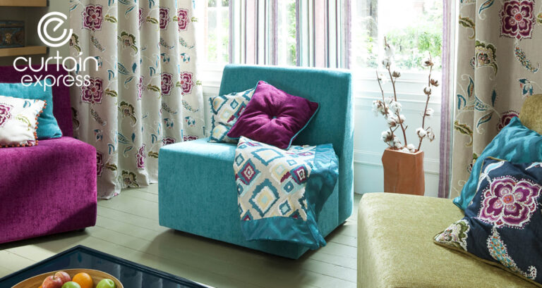Photo of fabrics and curtains