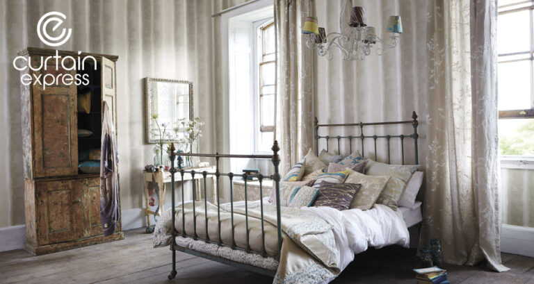 Designed bedroom setting
